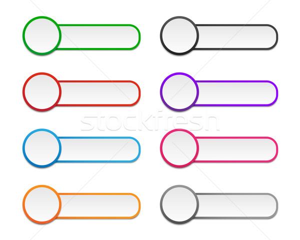 Colorato infografica etichette colori carta Foto d'archivio © simo988