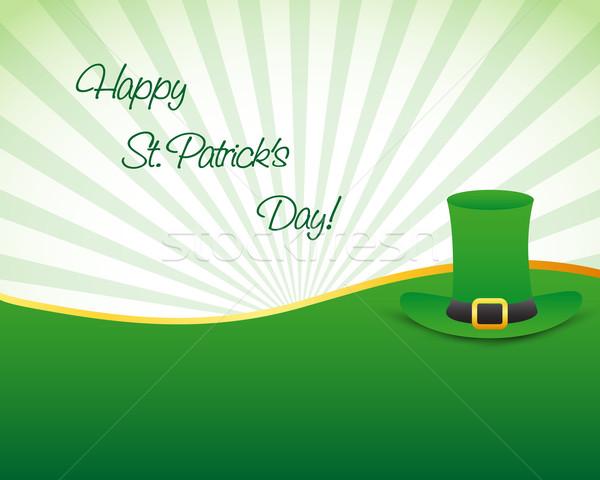 St Patrick's Day hoed gelukkig kunst teken groene Stockfoto © simo988