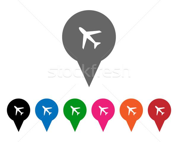 Aeroporto cores internet fundo laranja Foto stock © simo988