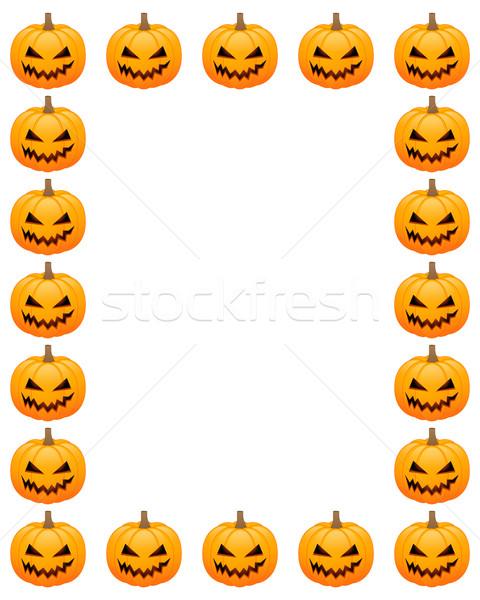 Foto stock: Halloween · calabazas · cara · resumen · luz