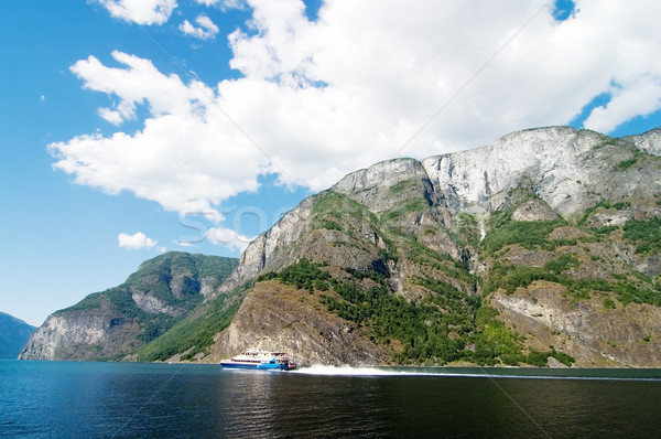 Norway Fjord Scenic with Ferry Stock photo © SimpleFoto