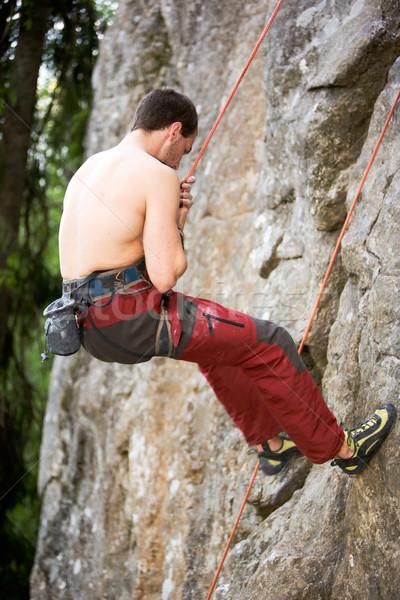 Male Climber Repelling Stock photo © SimpleFoto