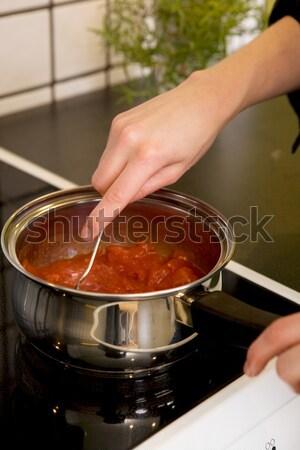Making Sauce Detail Stock photo © SimpleFoto