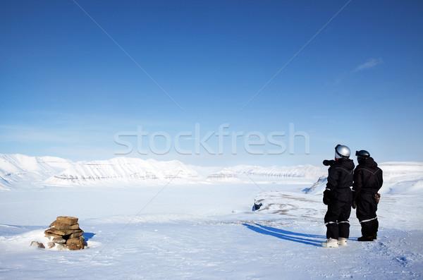 Vadon útmutató tél kaland természet tájkép Stock fotó © SimpleFoto
