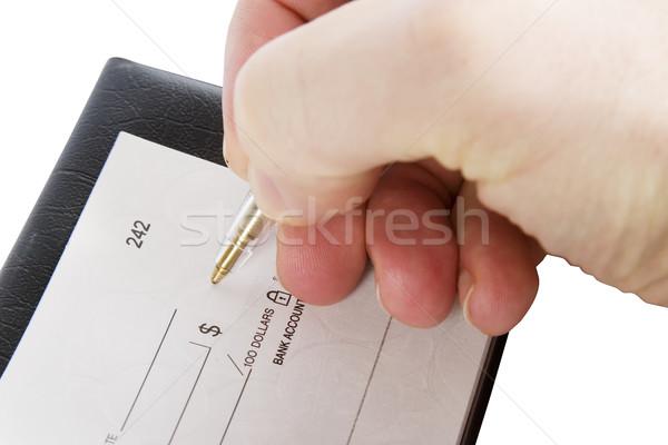 Kontrol miktar erkek el doldurma dışarı Stok fotoğraf © SimpleFoto