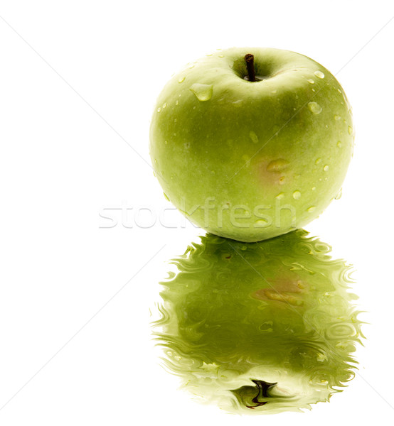 Verde manzana reflexión piscina agua frutas Foto stock © SimpleFoto