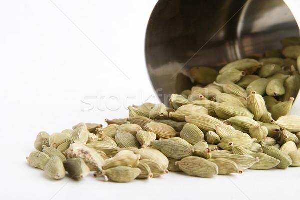 Kardemom voedsel kok object dieet kruid Stockfoto © SimpleFoto