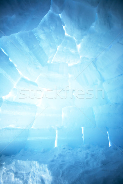 Igloo Interior Background Stock photo © SimpleFoto
