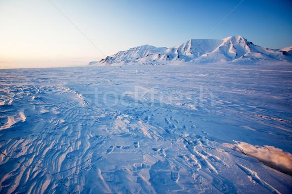 Winter Sunset Landscape Stock photo © SimpleFoto