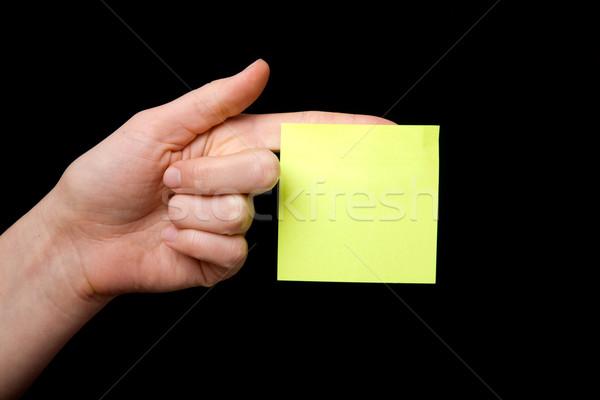 Yapışkan not el kadın dikkat gönderemezsiniz Stok fotoğraf © SimpleFoto