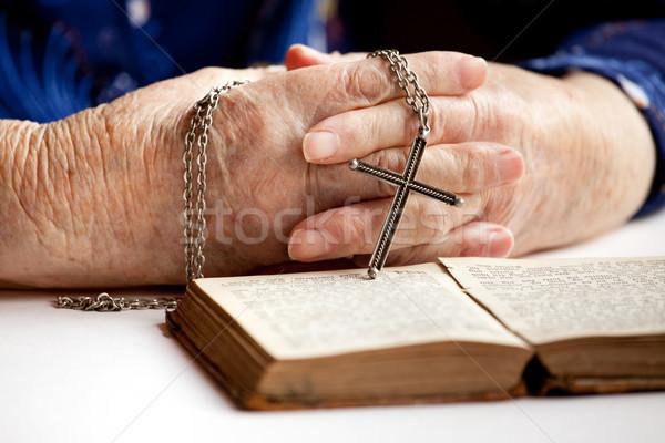 Hands with Cross Stock photo © SimpleFoto