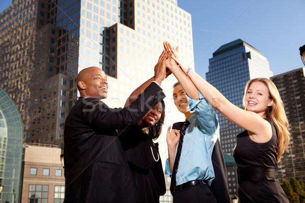 Stock foto: Business · Leistung · Gruppe · Geschäftsleute · glücklich