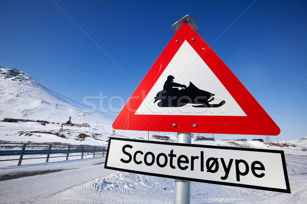 Snowmobile Trail Stock photo © SimpleFoto