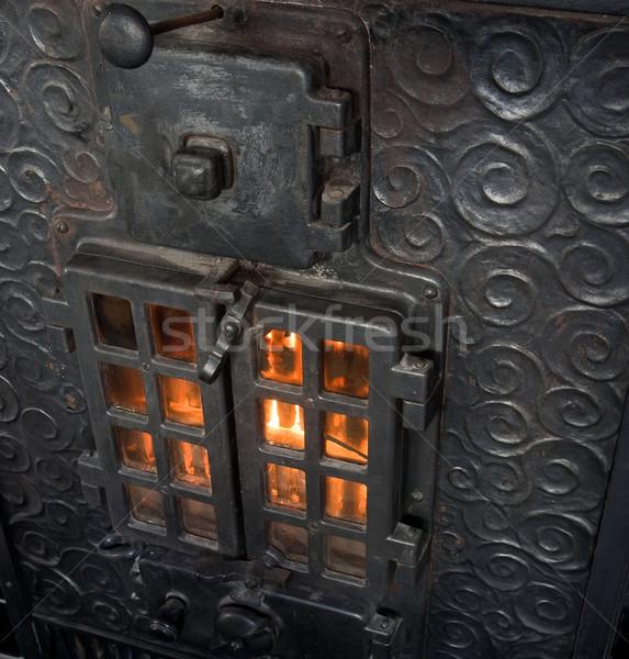 Cast Iron Fireplace Stock photo © SimpleFoto