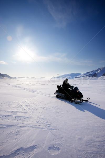 Snowmobile Silhouette Stock photo © SimpleFoto