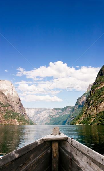 Boat on Fjord Stock photo © SimpleFoto
