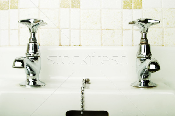 Retro toccare bagno sink home architettura Foto d'archivio © SimpleFoto