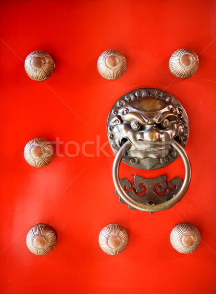 Budist tapınak detay ejderha kapı Stok fotoğraf © SimpleFoto