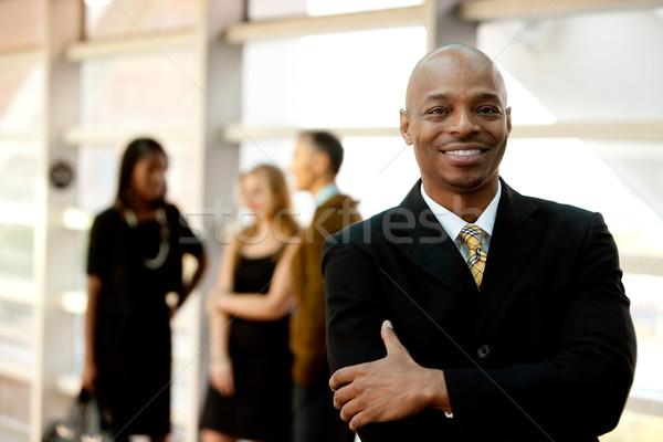 счастливым черный бизнесмен деловой человек люди человека Сток-фото © SimpleFoto