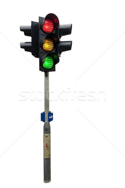 Stoplicht geïsoleerd Praag alle lichten auto Stockfoto © SimpleFoto