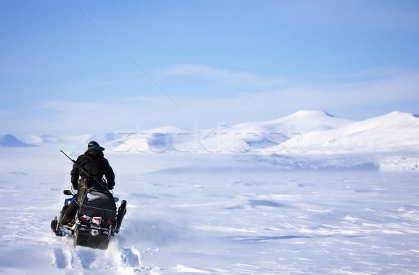 Winter Snowmobile Landscape Stock photo © SimpleFoto