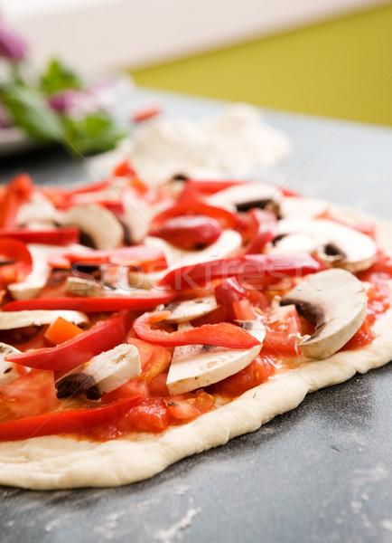 Stockfoto: Eigengemaakt · pizza · detail · vergadering · counter · klaar
