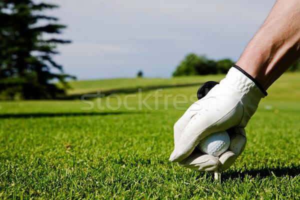 Сток-фото: гольф · гольфист · вверх · вождения · лет