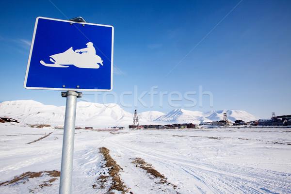 Snowmobile Sign Stock photo © SimpleFoto