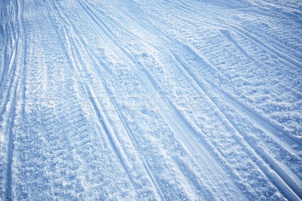 Snowmobile Track Texture Stock photo © SimpleFoto