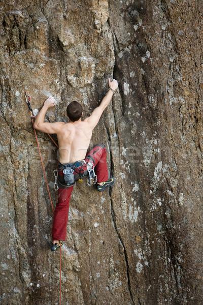 Male Rock Climber Stock photo © SimpleFoto