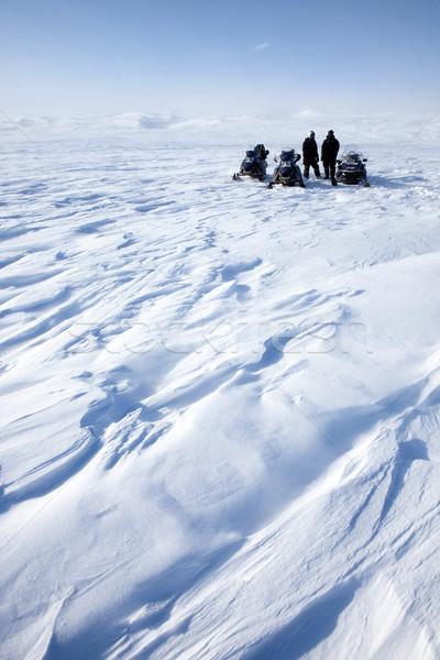 Spedizione inverno panorama persone gruppo donna Foto d'archivio © SimpleFoto