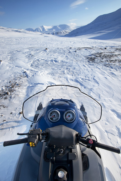 Snowmobile Winter Landscape Stock photo © SimpleFoto