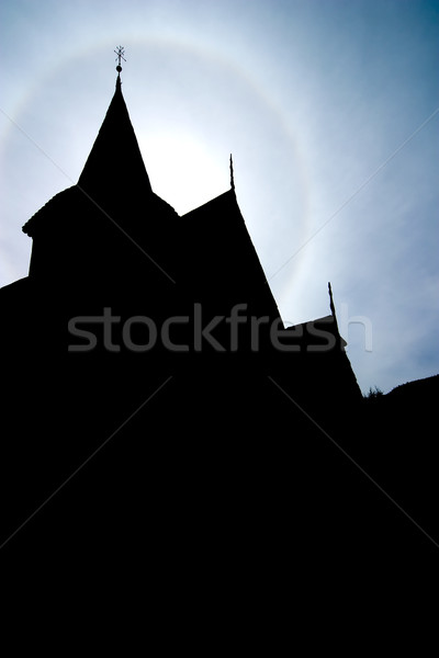 Church Steeple Silhuette Stock photo © SimpleFoto