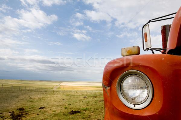 Stockfoto: Graan · vrachtwagen · abstract · detail · prairie · landschap