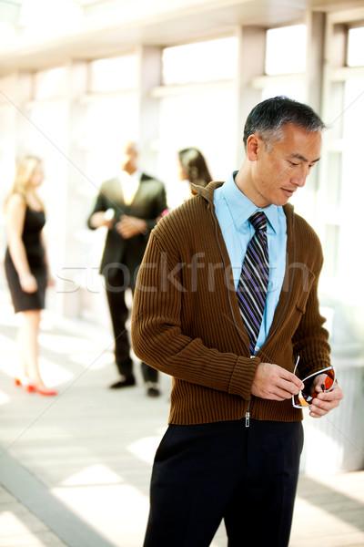 率直な ビジネスマン 肖像 顔 作業 モデル ストックフォト © SimpleFoto