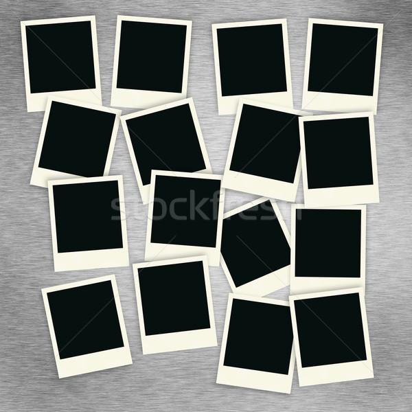 Polaroid коллаж шестнадцать щетка алюминий Сток-фото © SimpleFoto