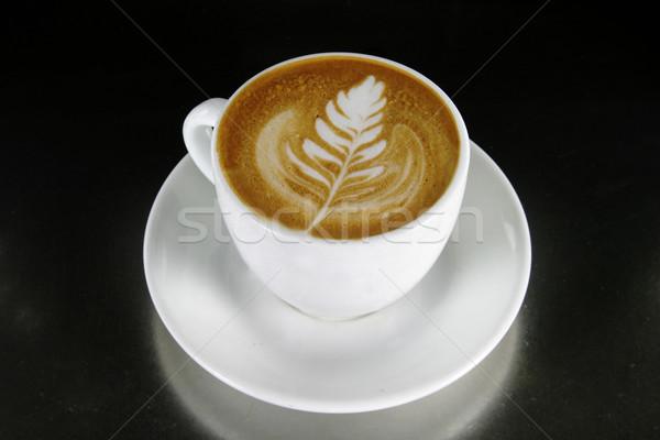 Cappuccino Latte Art Stock photo © SimpleFoto