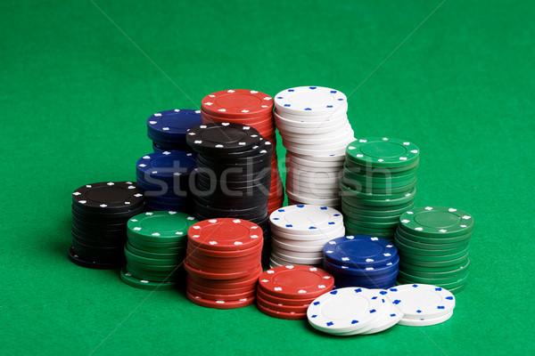 Poker Chips Stack Stock photo © SimpleFoto