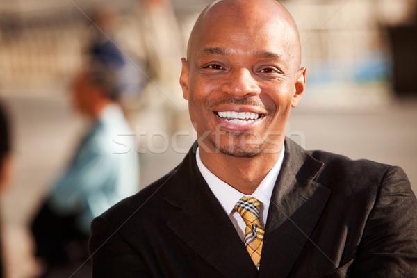 афроамериканец бизнесмен портрет деловой человек Открытый лице Сток-фото © SimpleFoto