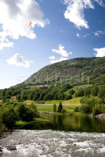 Norwegian Mountain with Parachute Stock photo © SimpleFoto