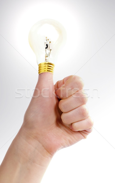 Stock photo: Thumbs Up Idea