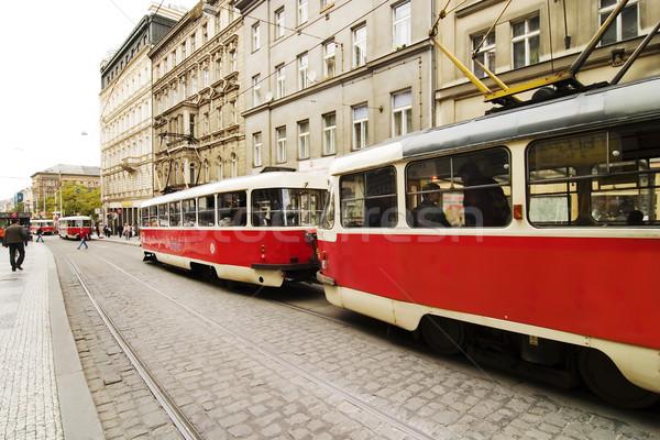 Prague Streetcar Stock photo © SimpleFoto