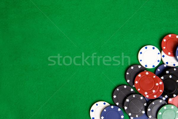 Stockfoto: Casino · chip · casino · chips · groene · ontwerp · frame