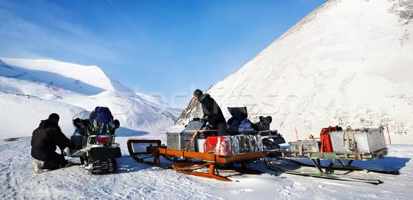 極地の 遠征 人 冬 女性 風景 ストックフォト © SimpleFoto