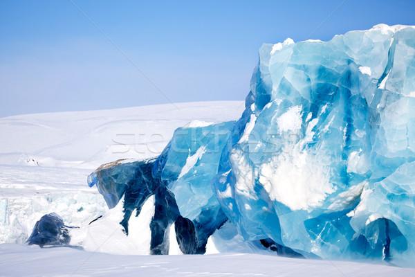 Ghiacciaio dettaglio isola acqua panorama neve Foto d'archivio © SimpleFoto