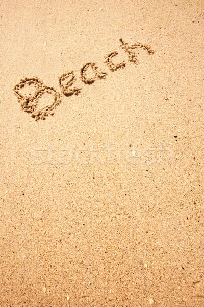 песчаный пляж пляж написанный песок побережье природы Сток-фото © SimpleFoto