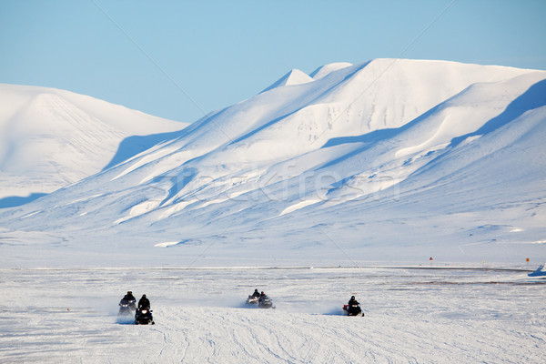 Snowmobile in Svalbard Stock photo © SimpleFoto