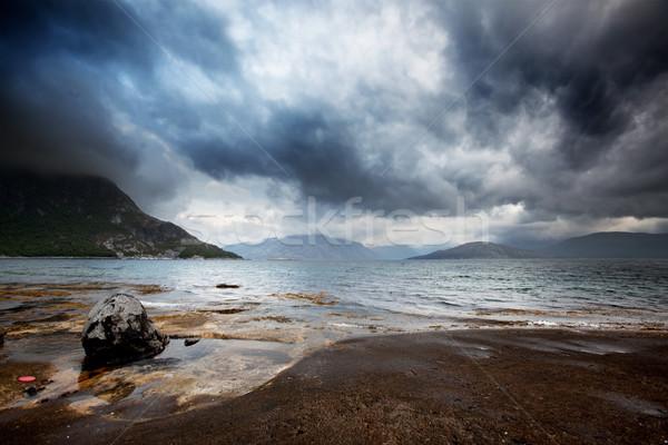 Mar tormenta océano Noruega edificio Foto stock © SimpleFoto