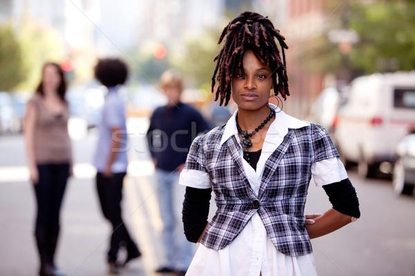 Beautiful African American Stock photo © SimpleFoto