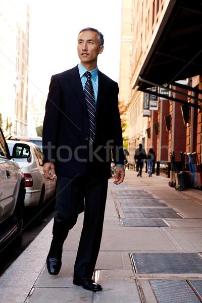 откровенный деловой человек город бизнеса лице человека Сток-фото © SimpleFoto